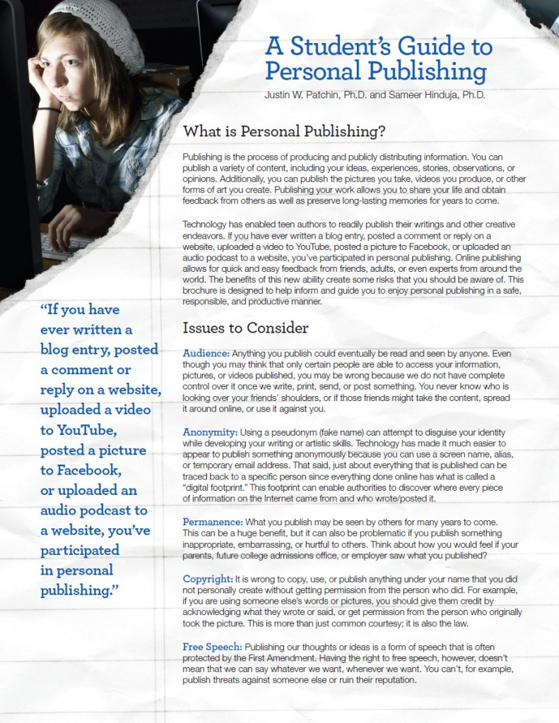 A Student's Guide to Personal Publishing