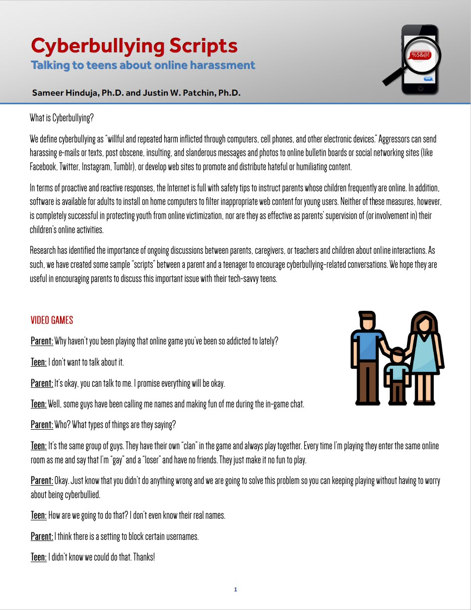 Cyberbullying Scripts For Parents To Promote Dialog And Discussion