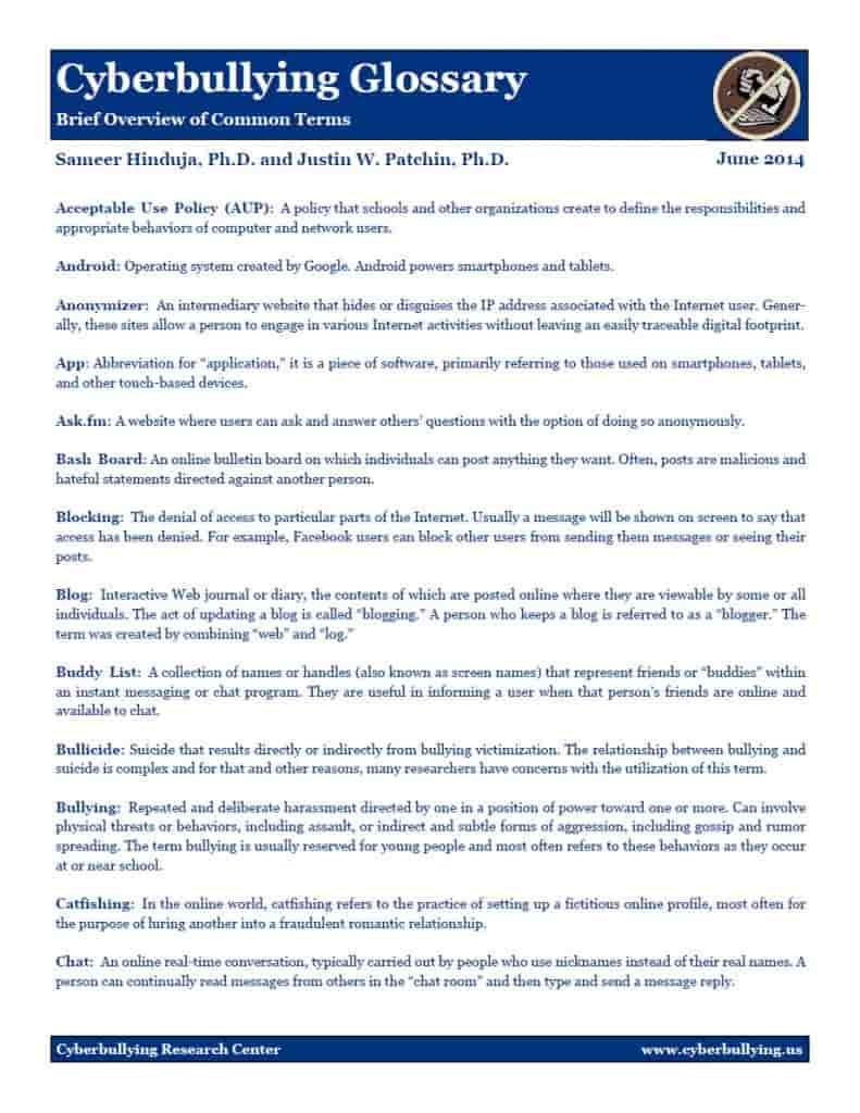argumentative essay on cyberbullying in pdf