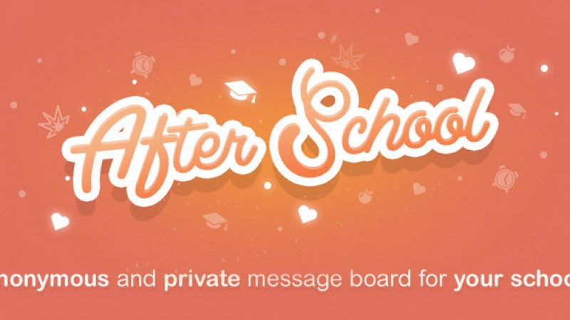 After School, Another Anonymous App for Teens