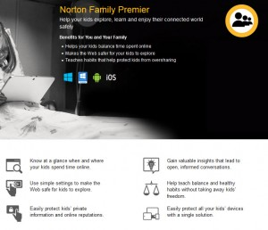 norton family premier internet filtering blocking parents
