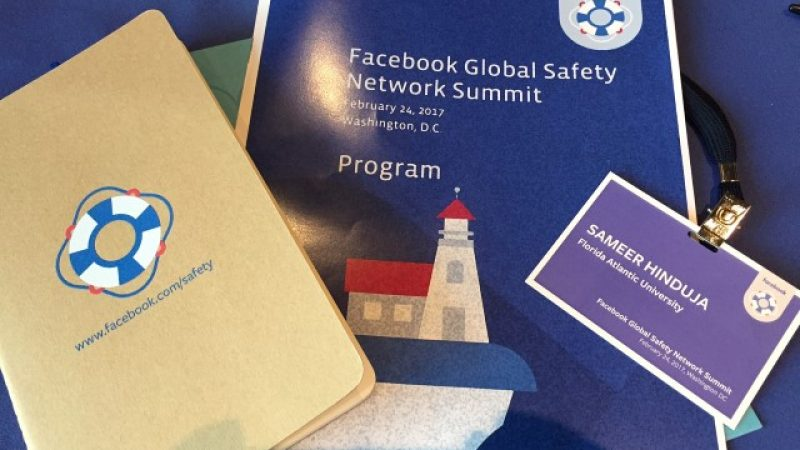 Facebook's Global Safety Network Summit: Online Well-Being
